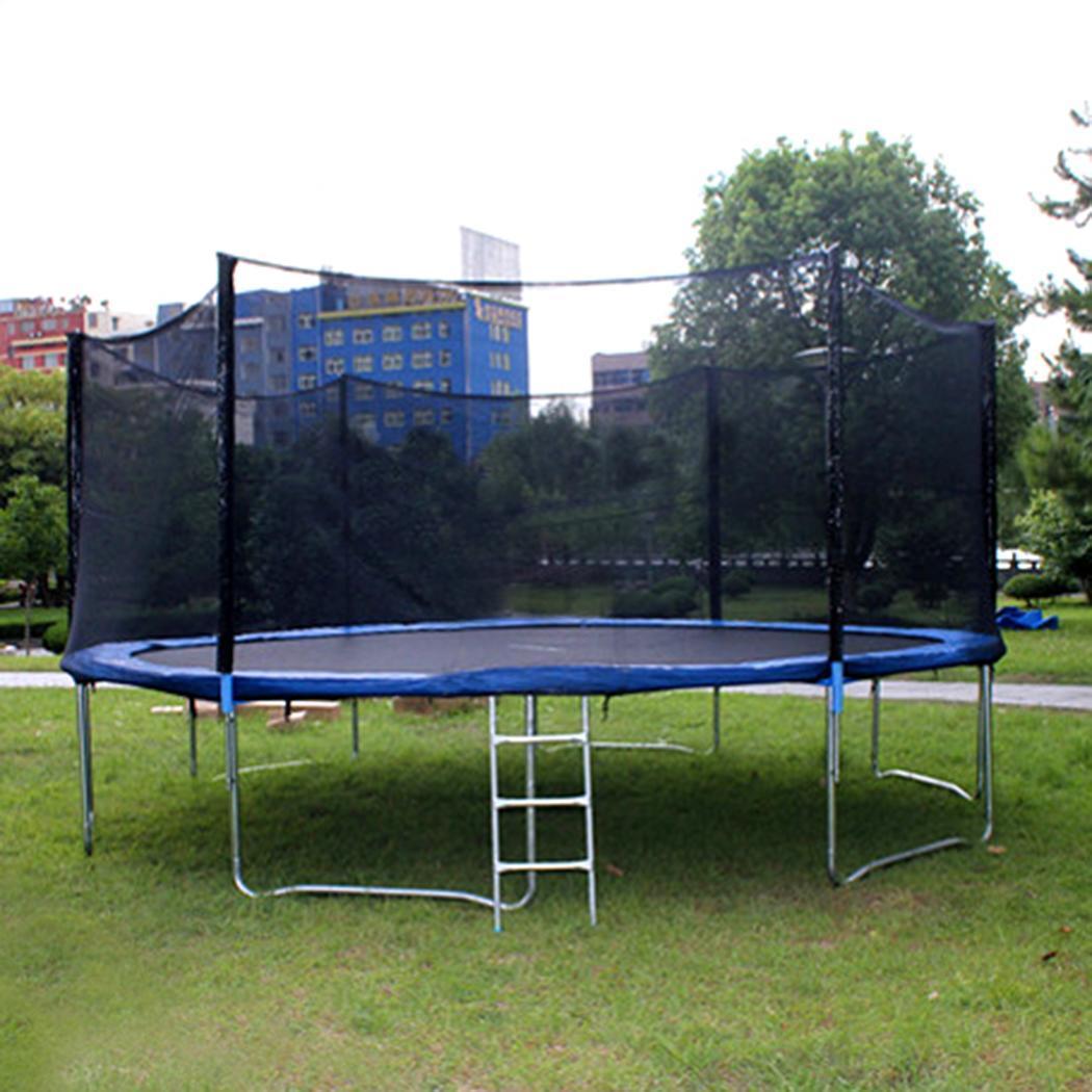Jump Zone Trampoline Replacement Net: Black 12FT Round Trampoline Enclosure Safety Net