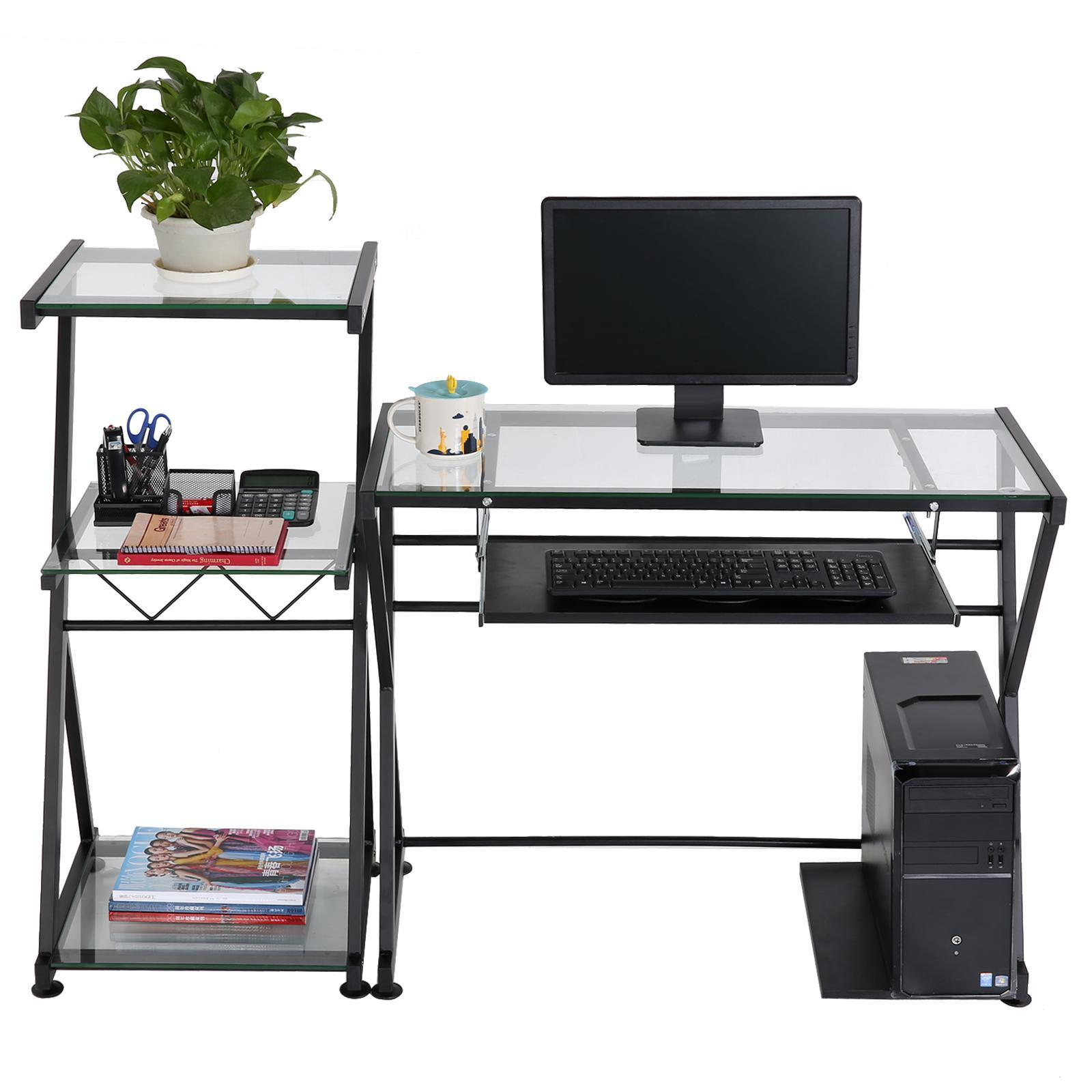 Homdox Computer Cart Compact Rolling Laptop Table Desk