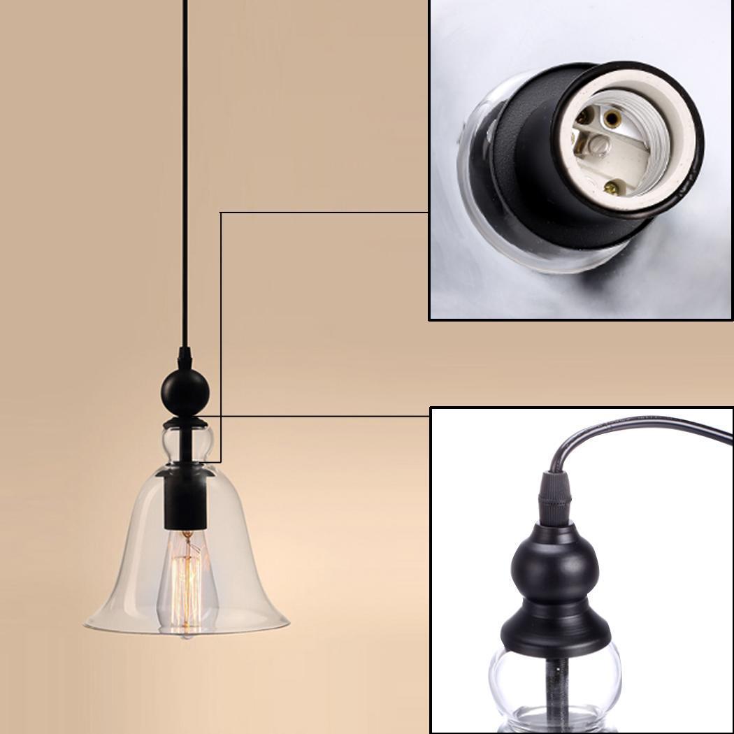 Glass Ceiling Light Retro Chandelier Pendant Kitchen