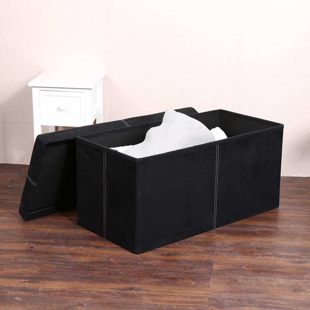 pvc leather folding ottoman pouffe bench seat foot stool